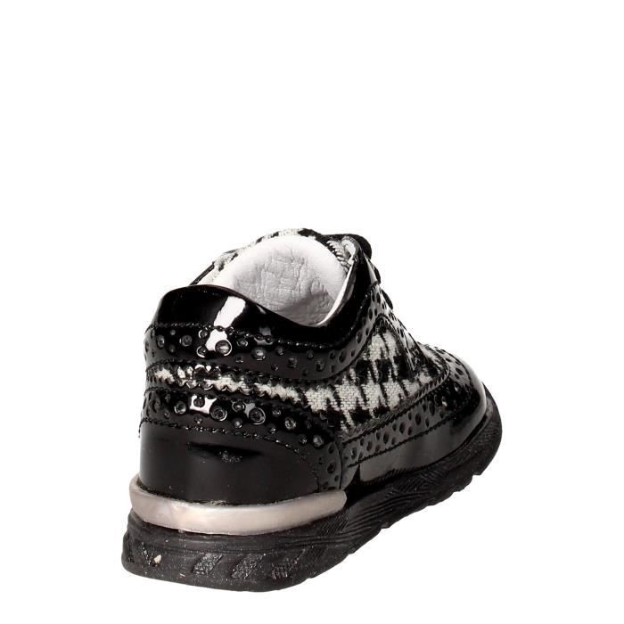 Falcotto Sneakers Fille Noir/Blanc, 26