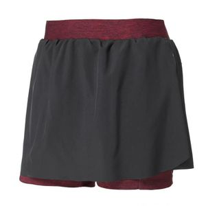 SHORT DE RUNNING ATHLI-TECH Short de running Eden - Femme - Noir et