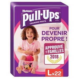 HUGGIES Pull Ups Economy Fille Taille 6 L - De 16 ? 23 kg - 22 couches