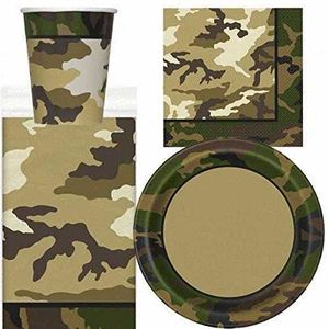 KIT DE DECORATION Military Camo Deluxe Party Supplies Kit For 16 2DS
