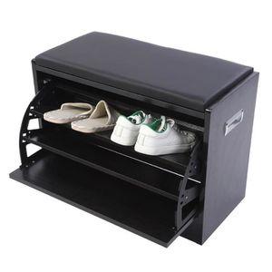 MEUBLE À CHAUSSURES armoire de rangement meuble à chaussures en bois 6