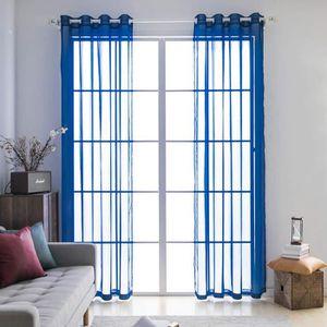 Cosics Rideau en fen/être Beige Deux Panneaux Rideaux de d/écoration de Porte de fen/être de avec des Pompons 135 x 175 cm