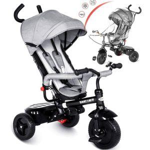 TRICYCLE besrey 4 en 1 Tricycle Poussette Walker pour Enfan
