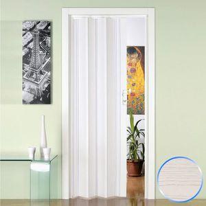 CABINE DE DOUCHE Porte pliante accordèon en pvc pin blanc 88,5x214c
