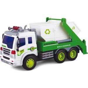 TRACTEUR - CHANTIER Camion de recyclage et poubelle à friction