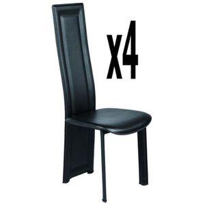 chaises Lot 4 metal et pvc dshtCQxr