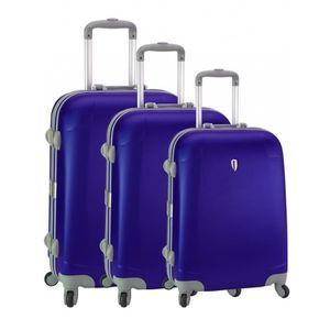 SET DE VALISES Set de 3 valises 4 roues original robust II bleu