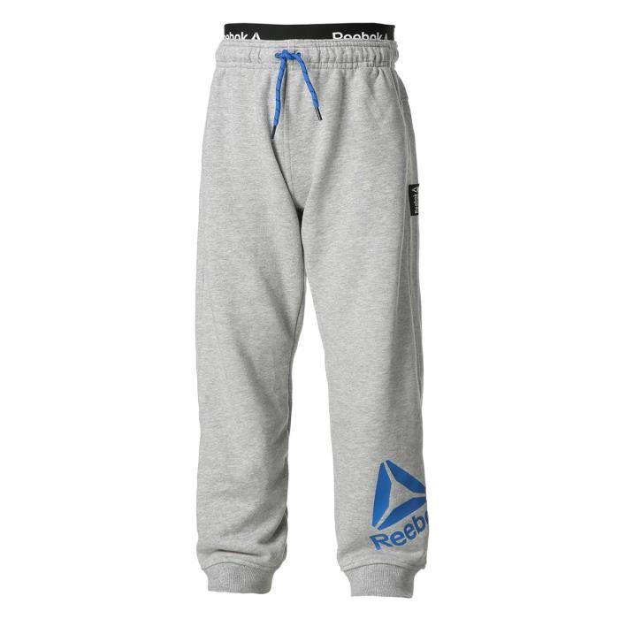 REEBOK Pantalon Jogging Gris Enfant