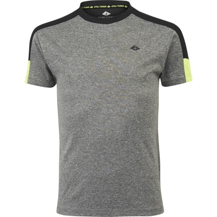 ATHLI-TECH T-shirt de tennis Eliaz - Enfant - Gris chiné