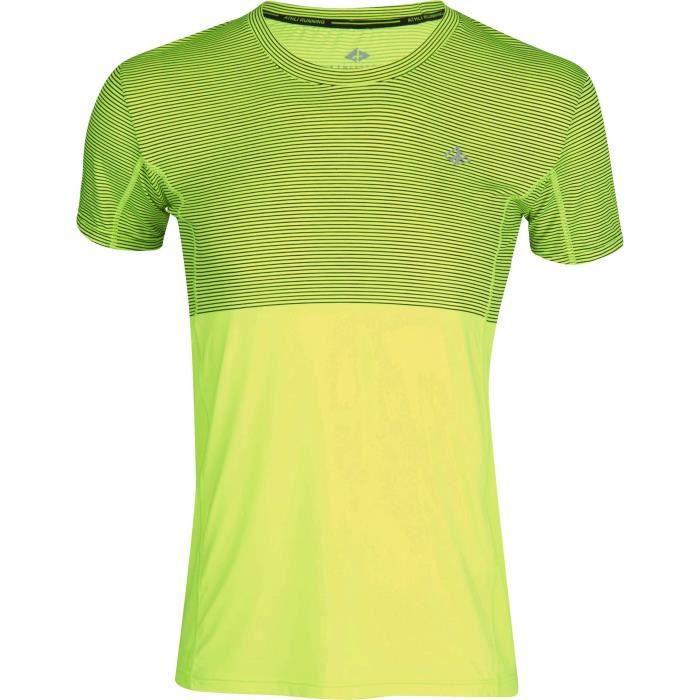 ATHLI-TECH T-shirt de running Eclair - Homme - Jaune