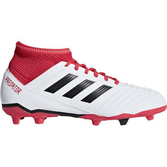 ADIDAS Chaussures de football Predator 18.3 Fg - Enfant garçon - Blanc