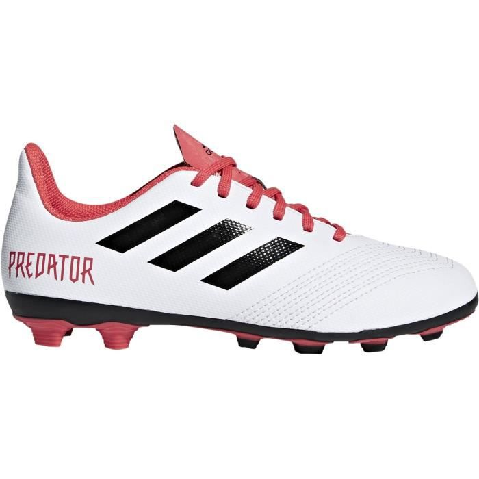 ADIDAS Chaussures de football Predator 18.4 FxG - Enfant garçon - Blanc