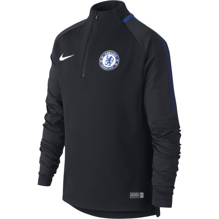 2017 2018 Chelsea Nike Drill Training Top (Black)