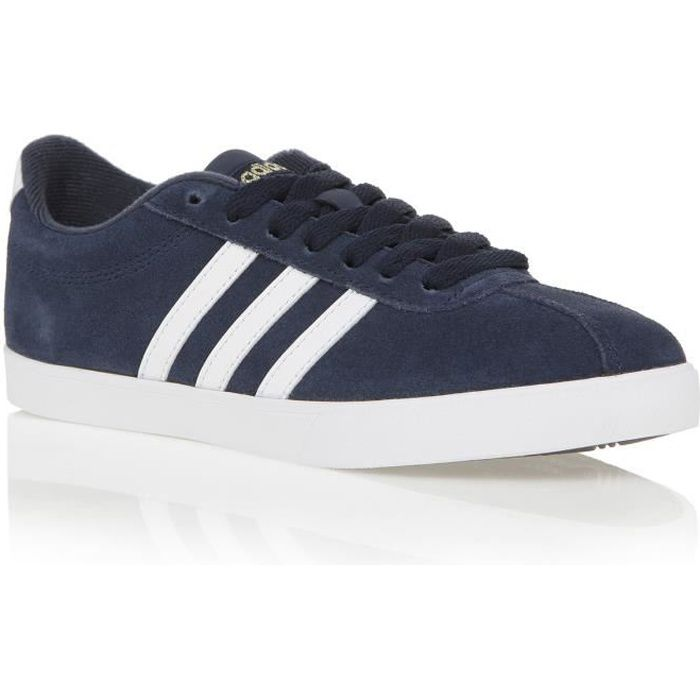 low priced 7f833 08d9c ADIDAS Basket Neo Courtset - Femme - Bleu marine
