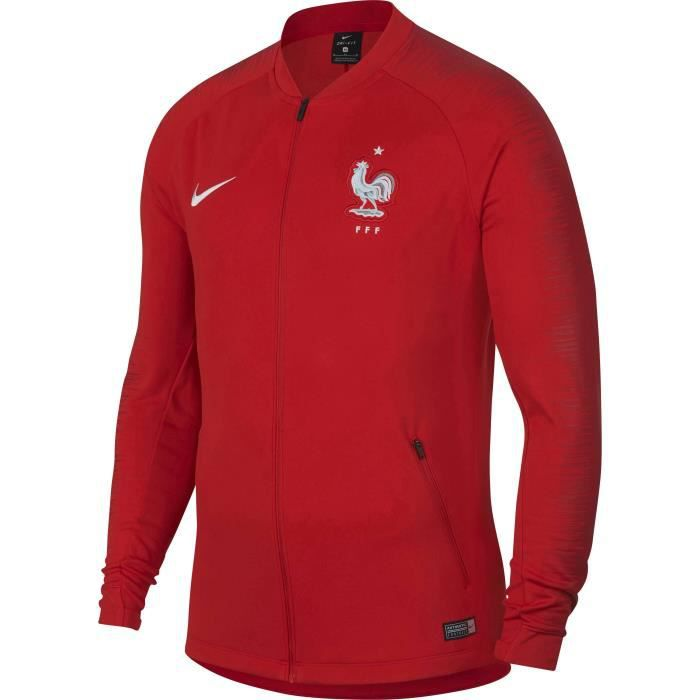 NIKE Sweatshirt de Football Anthem FFF France - Homme - Rouge