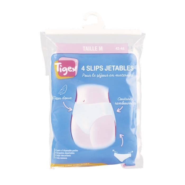 TIGEX Lot de 4 slips jetables Taille M