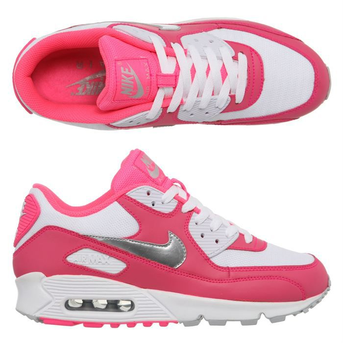 chaussure nike air max rose et blanche femme