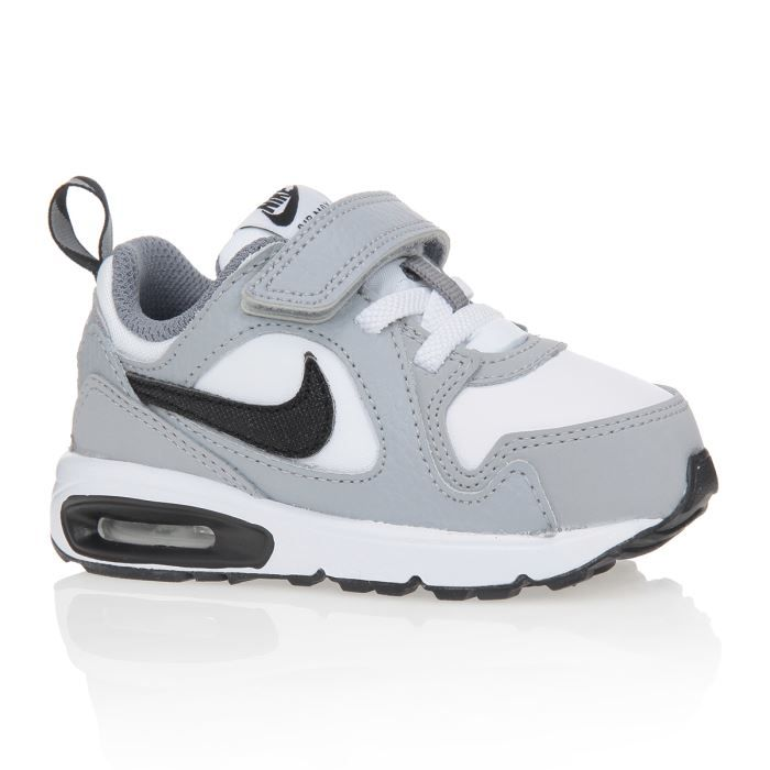 nike baskets air max trax tdv b b gar on gris blanc noir achat vente basket cdiscount. Black Bedroom Furniture Sets. Home Design Ideas