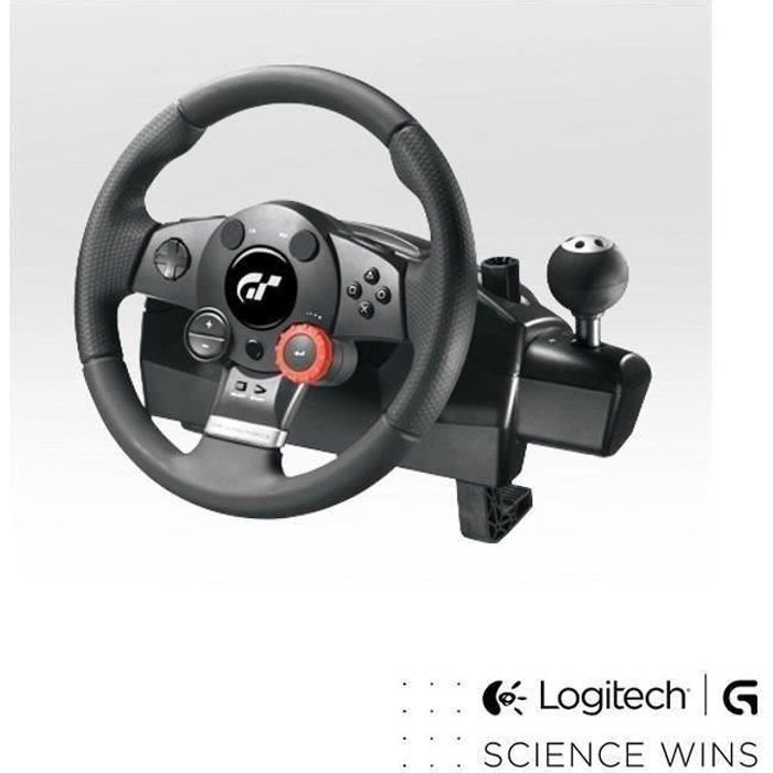 logitech volant de course driving force gt pc ps3 prix. Black Bedroom Furniture Sets. Home Design Ideas