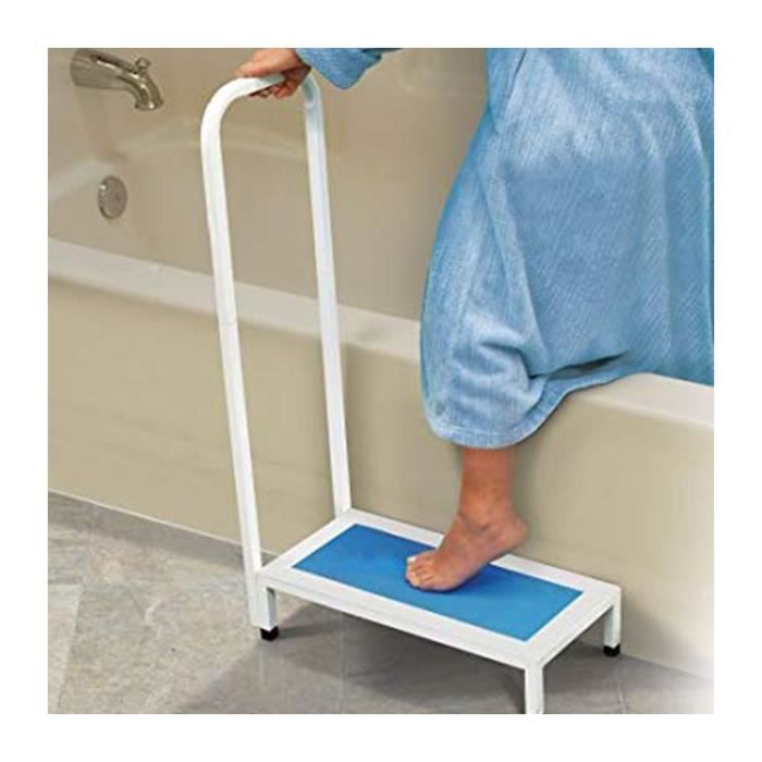 Marche pied salle de bain avec poignée - Astuceo 89,000000 Bleu