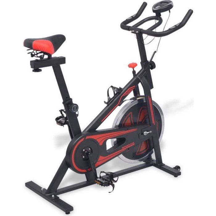 YAJIASHENG Vélo d'appartement avec capteurs de pouls Noir et rouge