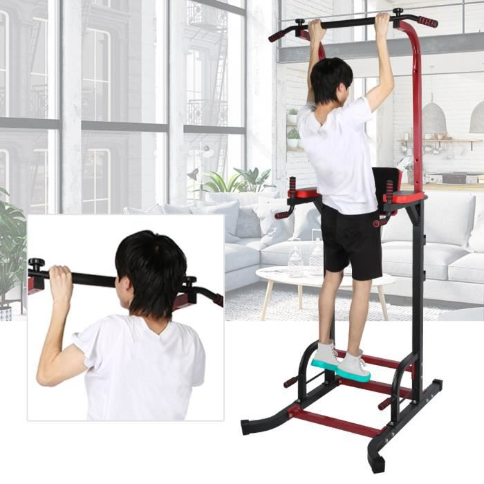 Station de tractions et fitness,Barre de traction Station musculation Dips station A010 -ROE
