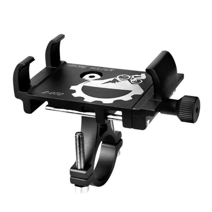 vélo support de téléphone universel vélo moto guidon pince support support de téléphone portable support-noir