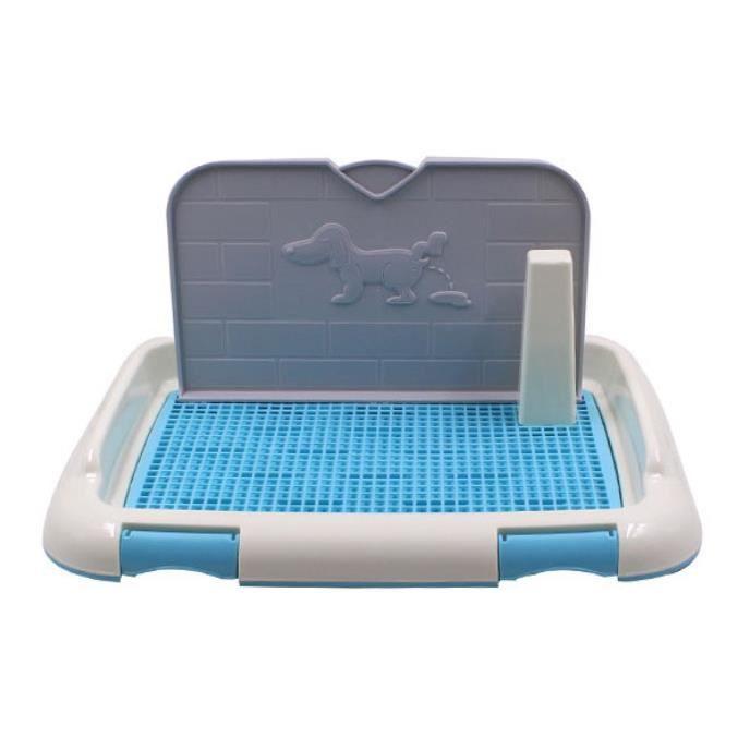 Bassin pot de toilette de animaux de compagnie, toilettes intérieures pour chien - Bleu 47*34*19cm