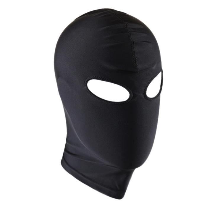 Masque Visage unisexe noir - Deguisement Visage tête jeu de rôle plaisir élastique