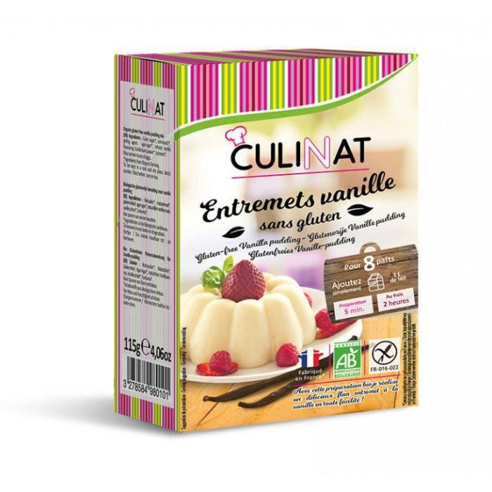 Préparation pour flan entremet vanille sans gluten 115gr