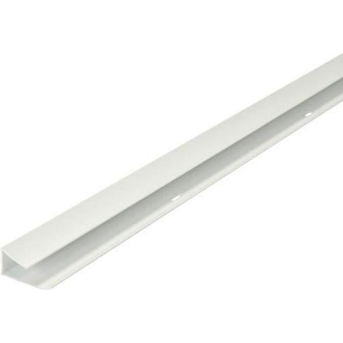 Profilé finition petit recouvrement longueur 4 m blanc