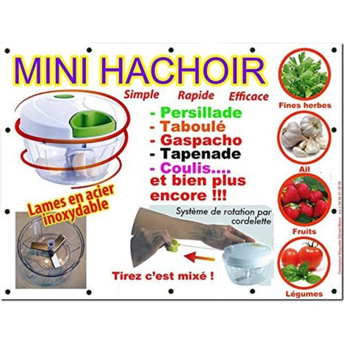 Mini hachoir manuel (rouge) LIMITEE !!