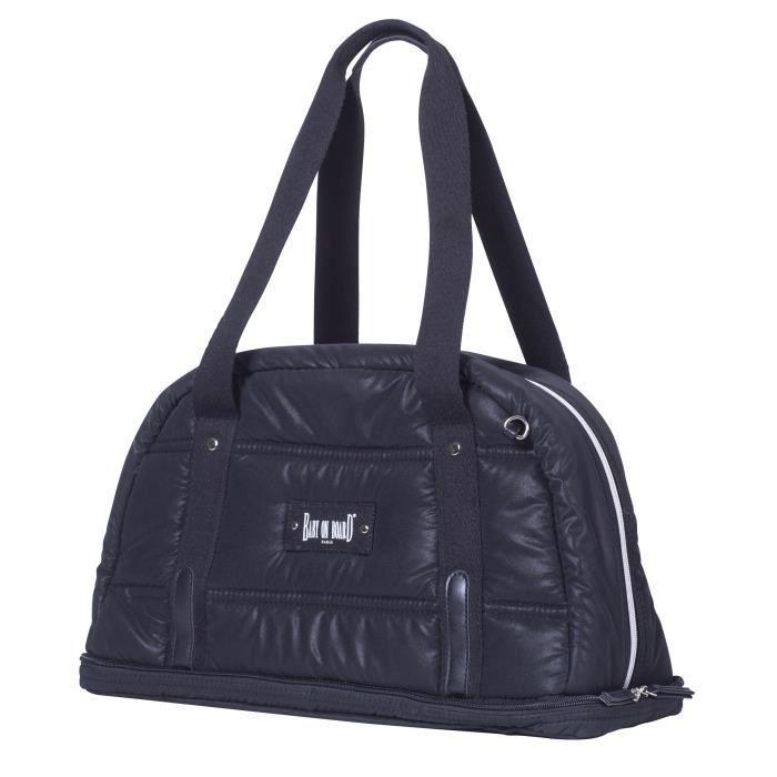 Baby on board - sac à langer - Doudoune Bag noir- sac 24h ouatiné et déperlant tapis à langer, sac repas thermo, trousse accessoires