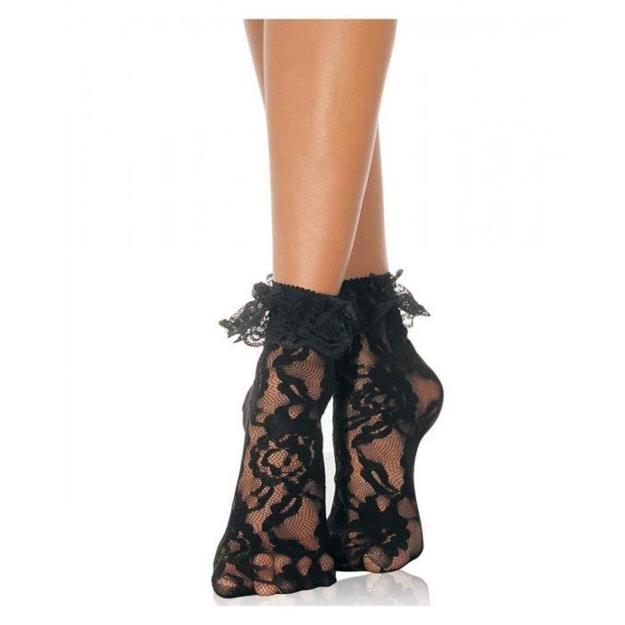 chaussettes en dentelle noire