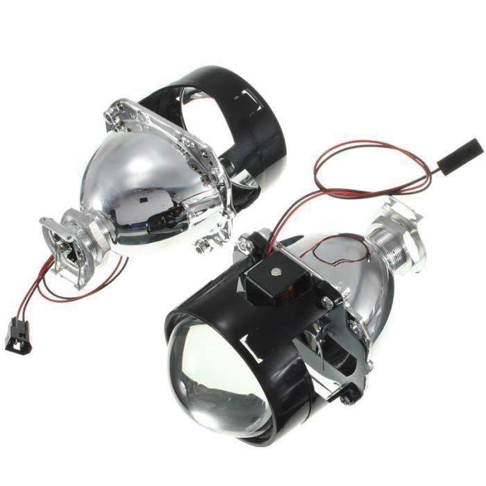 2x H4 H7 Phares LED Bi-Xenon Ampoule HID Projecteur Lens Angel Yeux DC9-16V Lumière Bleu Bo52441