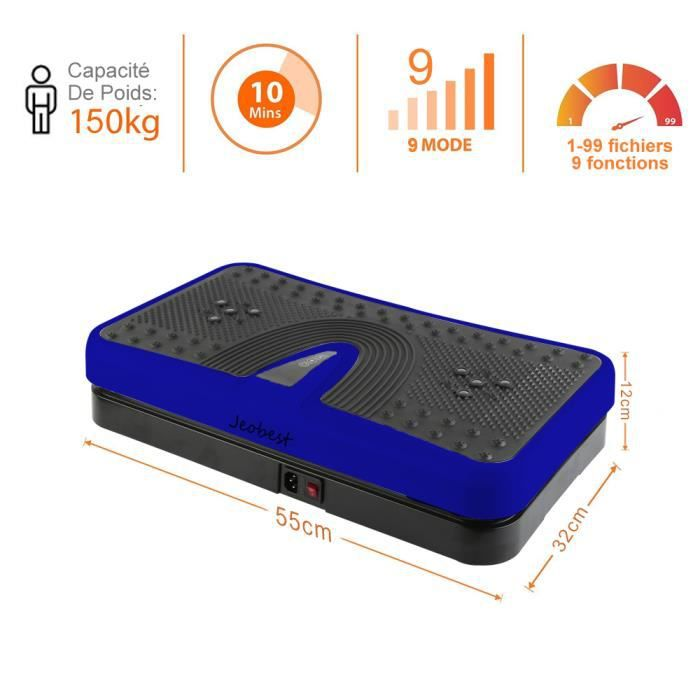 KEKE-Fitness Plateforme Vibrante Body sculpting Perte de poids Haute fréquence + Grande puissance Bleu