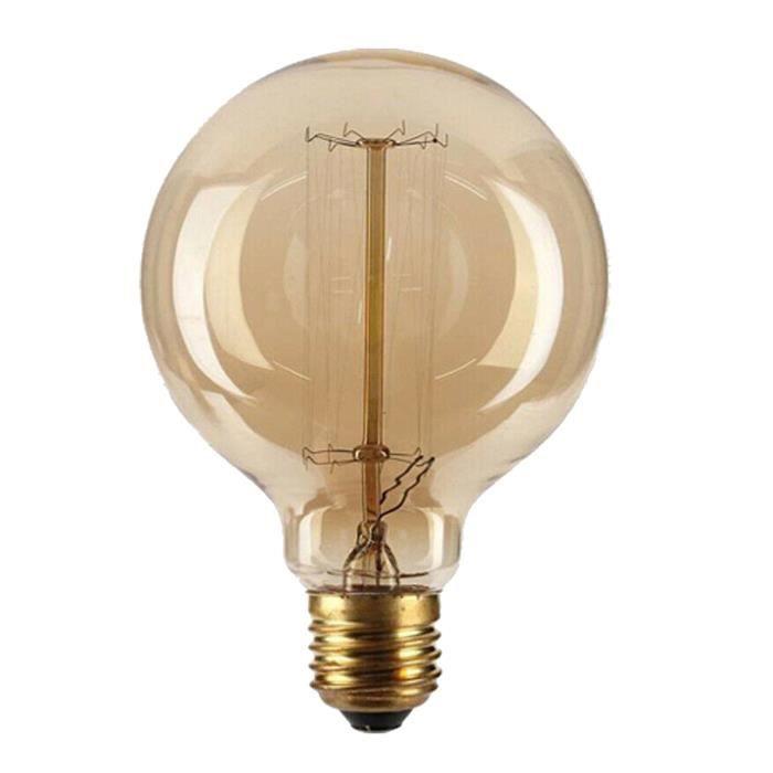 Retro G95 E27 60W Ampoule Edison Incandescent Bulb 220V
