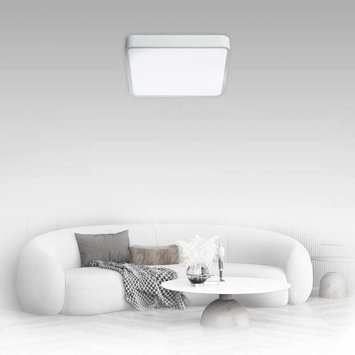 plafonnier carré 22 w pour salle de bain, plafonnier led, panneau de cuisine, 90 lm, 4000 k, éclairage moderne pour salle de bain,
