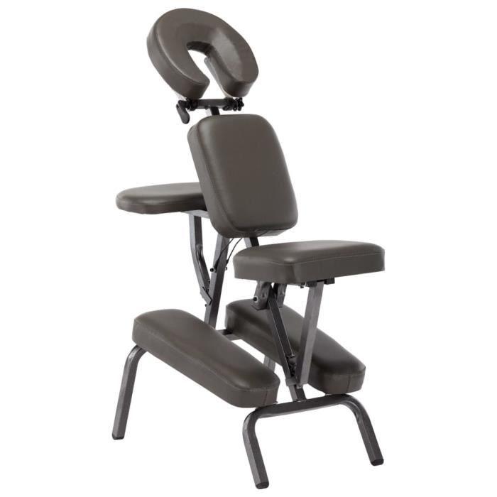 Fauteuil de massage Similicuir Anthracite 122x81x48 cm @TXY011