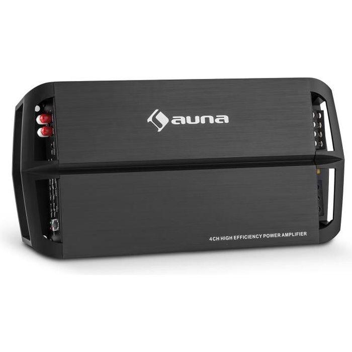 auna AMP490BK Ampli voiture 4 canaux 360W classe A/B télécommande