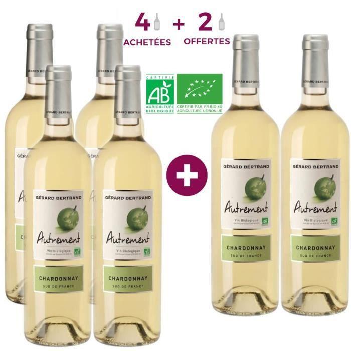 Gérard Bertrand Autrement Chardonnay Pays d'Oc - Vin blanc du Languedoc-Roussillon - Bio