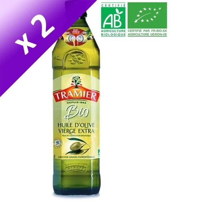 [LOT DE 2] TRAMIER Huile d'Olive vierge extra Bio - 75 cl