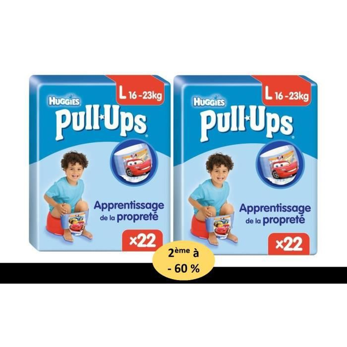 HUGGIES Lot de 2 packs de 22 Pull Ups Cars Garçon