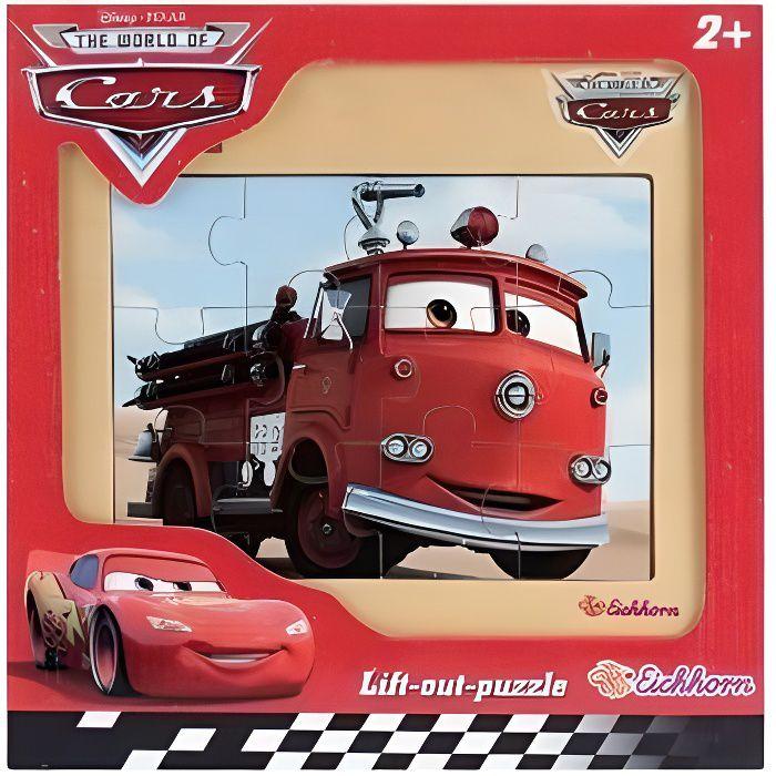PUZZLE EN BOIS - DISNEY CARS : CAMION POMPIER R...