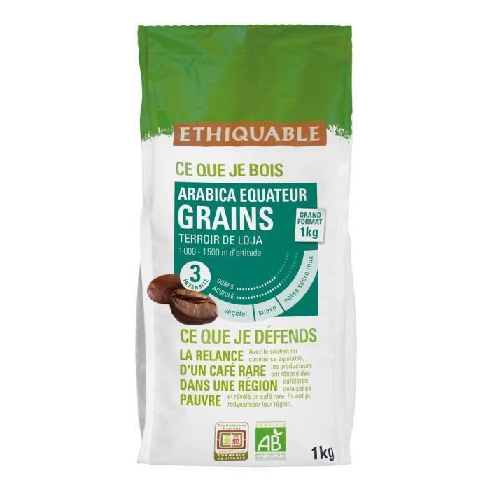 Paquet cafe grains equateur 1kg