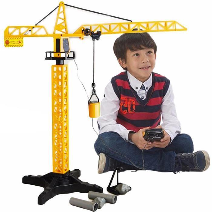 Jeu Grue Rotative de Chantier Enfant Télécommandée - 55 cm - Engin de Chantier Jouet