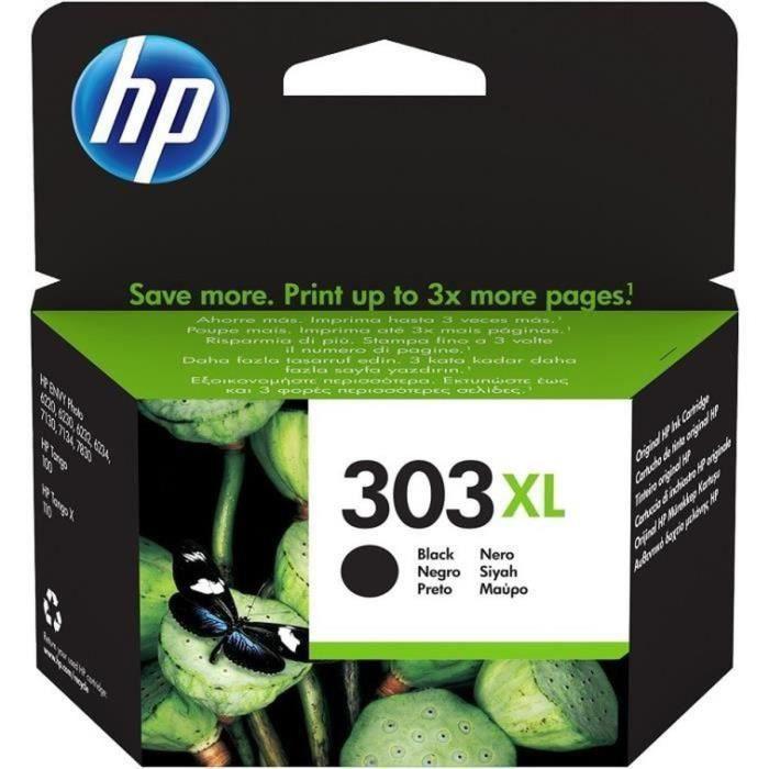 HP 303XL cartouche d'encre noire grande capacité authentique pour HP Envy Photo 6220/6230/7130 (T6N04AE)