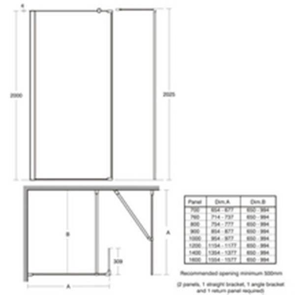 Ideal standard Barre de fixation de paroi de douche droite Réf L6229EO