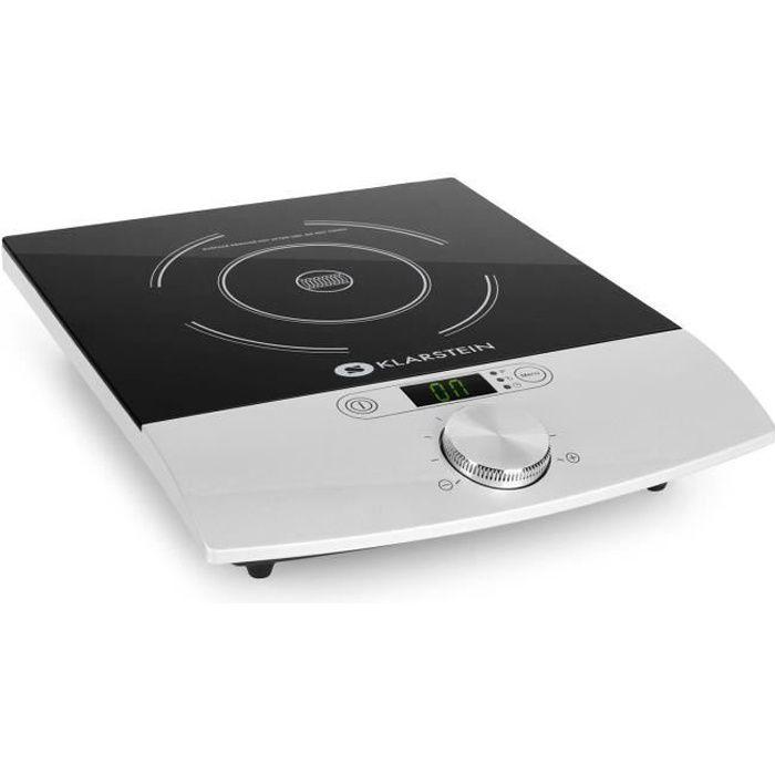 Klarstein VariCook Single - Plaque de cuisson à induction / réchaud de 1800W pour plats de 12-26cm Ø avec timer et 10 niveaux