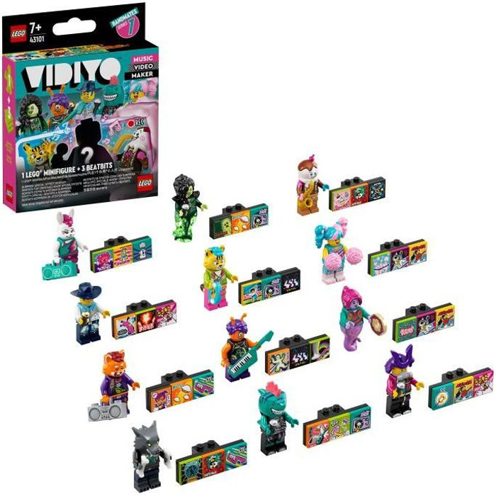 LEGO® 43101 VIDIYO™ Bandmates Figurines Ensemble d'extension Jouet Musical pour Enfant, Créateur de Clip Vidéo Musique, Série 1